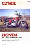 Honda 250cc - 360cc Twins 1974 - 1977 Clymer Owners Service & Repair Manual